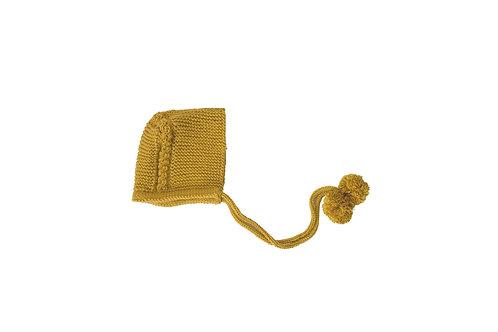 Knitted Charlotte Bonnet Marigold Mustard 0-3mths