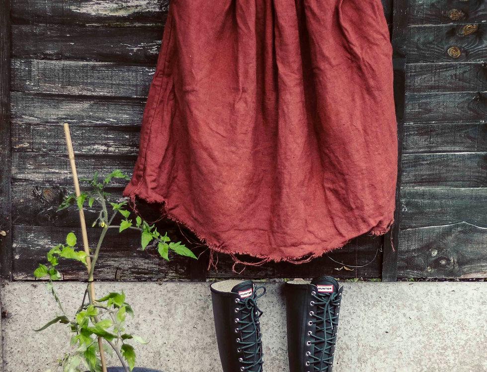 'Rosalind 83' 100% Linen Skirt