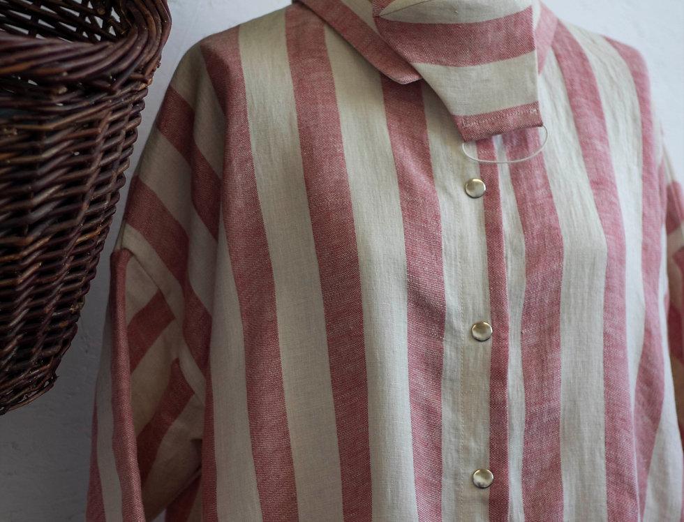 3/4 Sleeve Dress with a matching Mask 100% Linen