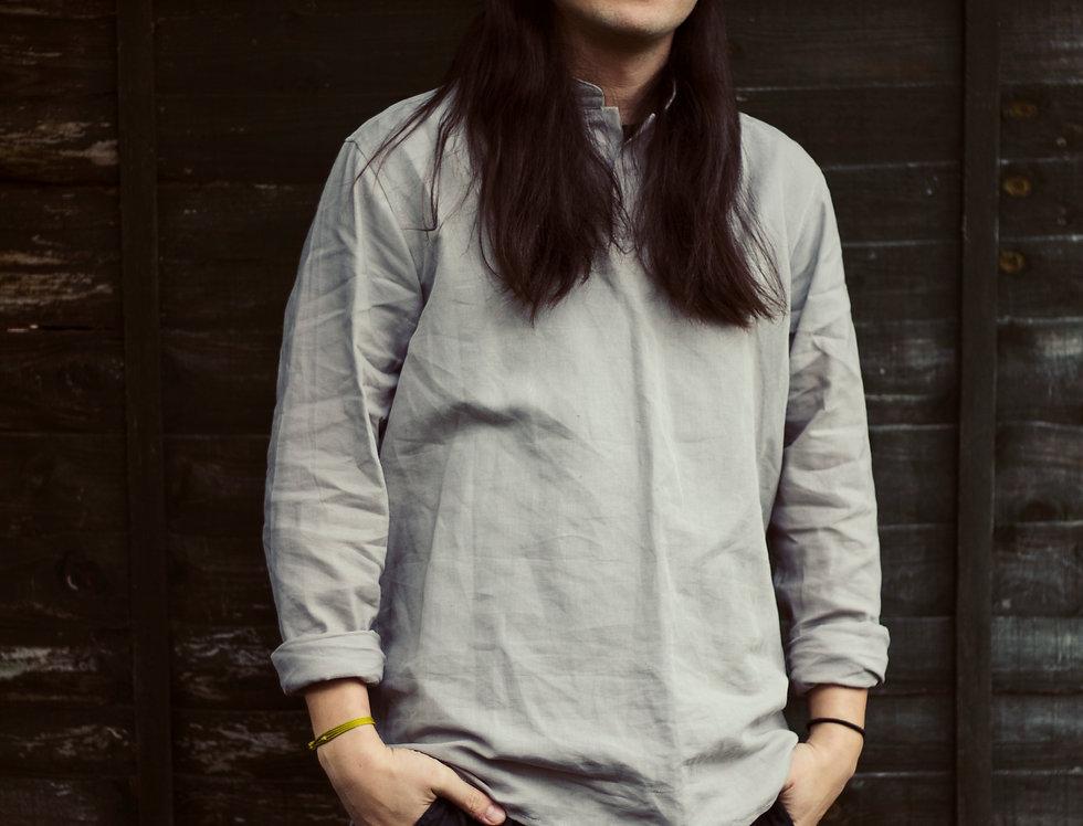 100% Linen Light Grey Shirting