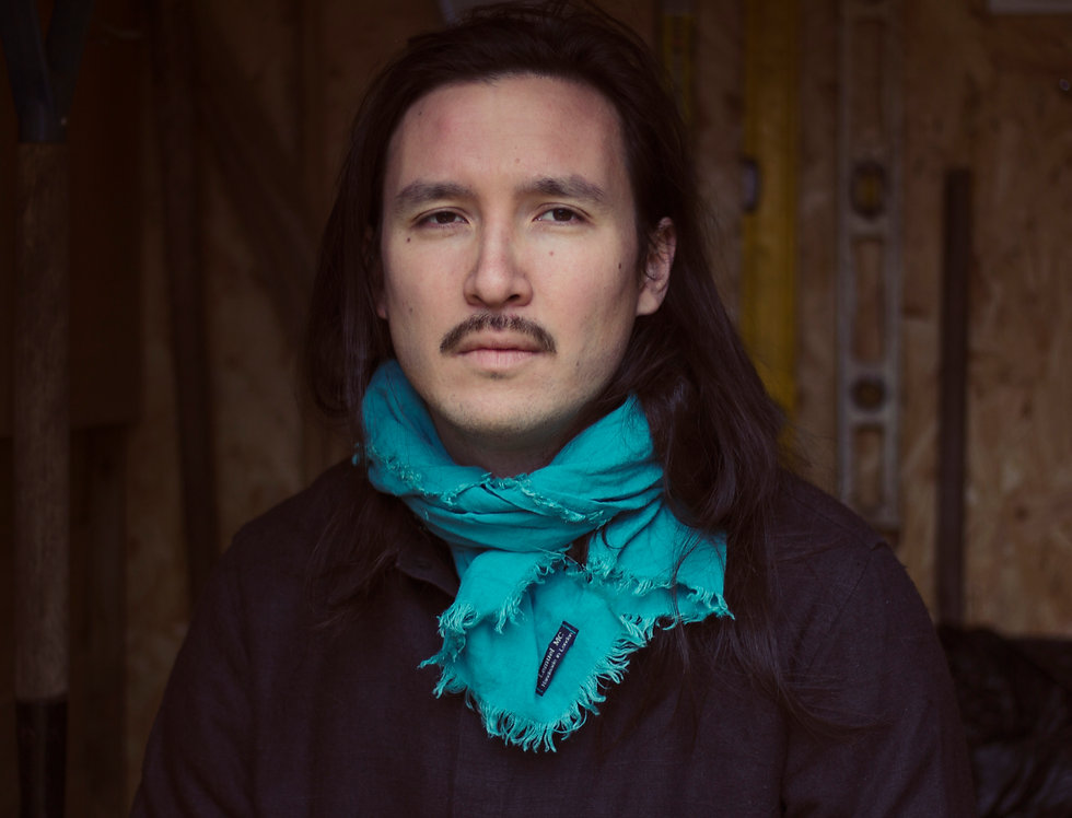Soft  Linen Scarf (Turquoise)