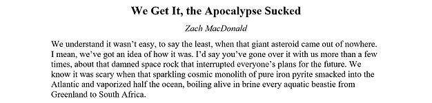 Preview - We Get It, the Apocalypse Suck