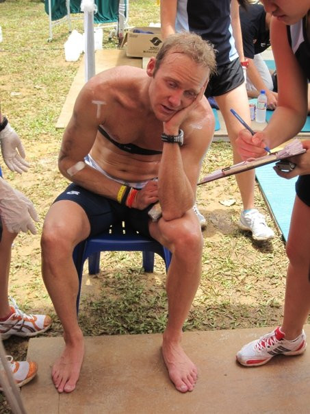 Caption: The Prof displaying a disturbed HPA axis, immediately following the Singapore 70.3 Ironman triathlon.