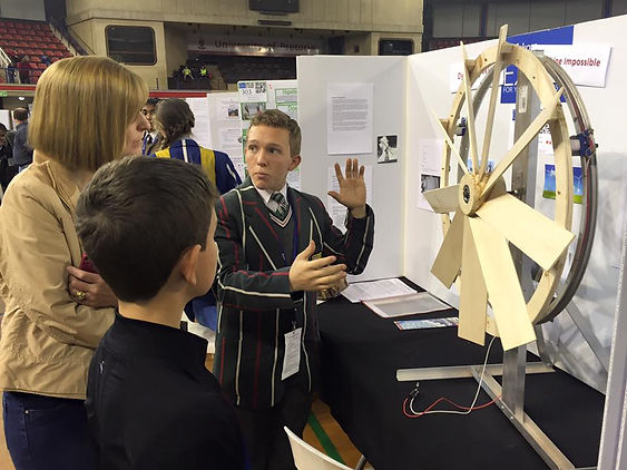Imbewu Northern Gauteng Science Fair participant in mechanical engineering