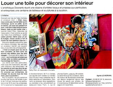 article OUEST FRANCE du 28 octobre