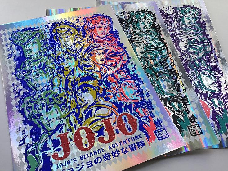 Jonathan Joestar holographic print