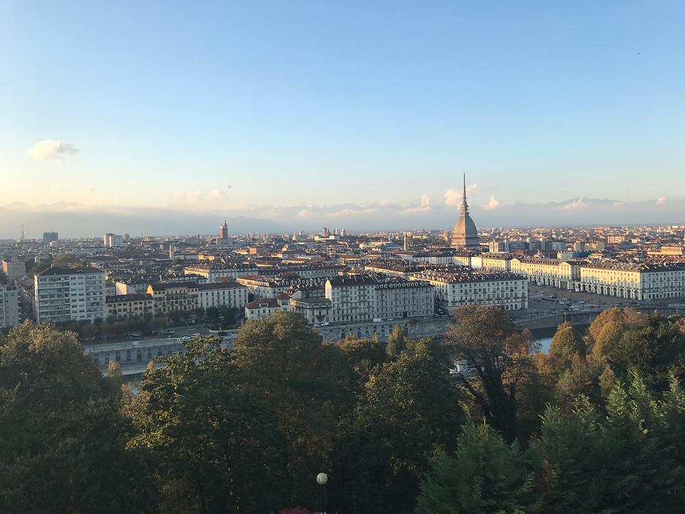 Blick über Turin vom Monte dei Cappuccini aus
