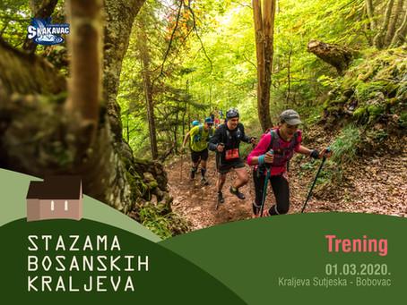 """Trening """"Stazama bosanskih kraljeva"""""""