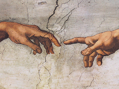 """""""Сотворение Адама"""" Микеланджело"""