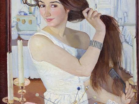 За туалетом. Автопортрет Зинаиды Серебряковой