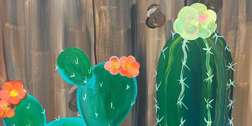Wood + Cactus