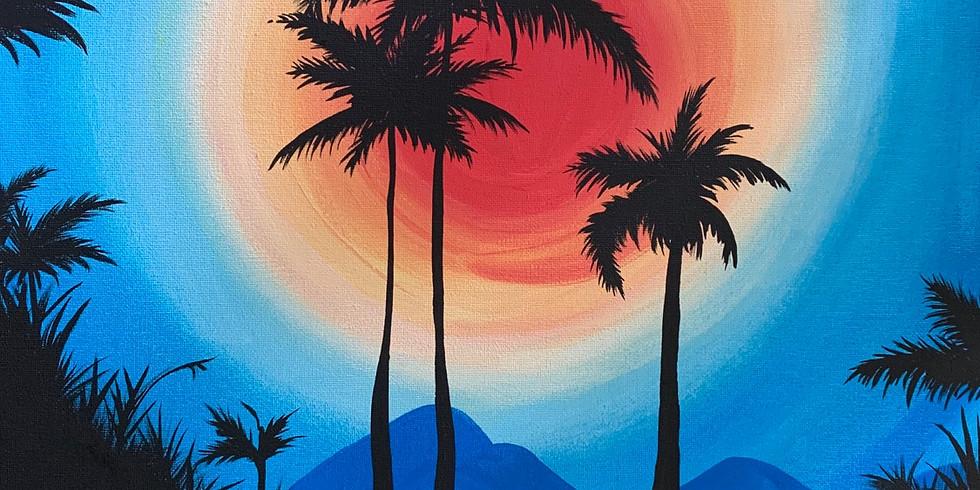 Palm + Sunset