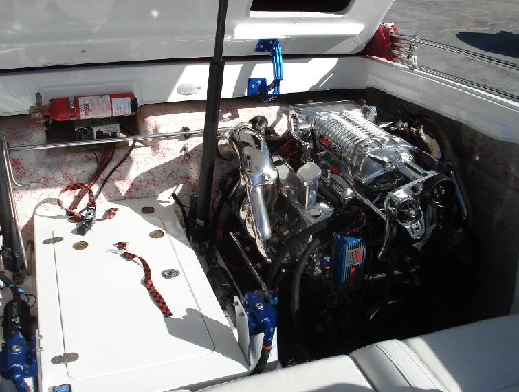 Twin Engine Boat Detail