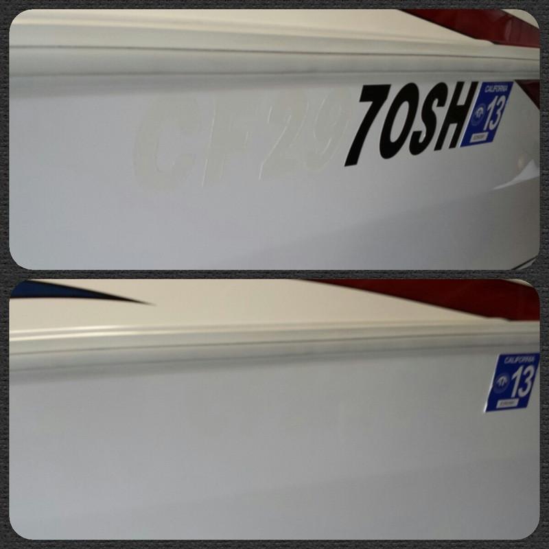 Boat Graphic & Sticker Removal