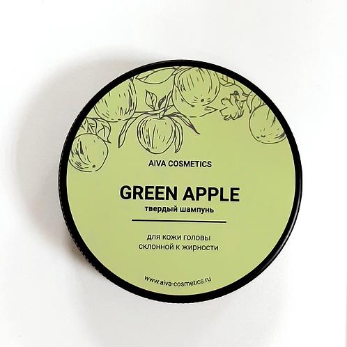 GREEN APPLE\твердый шампунь\упаковка стандарт