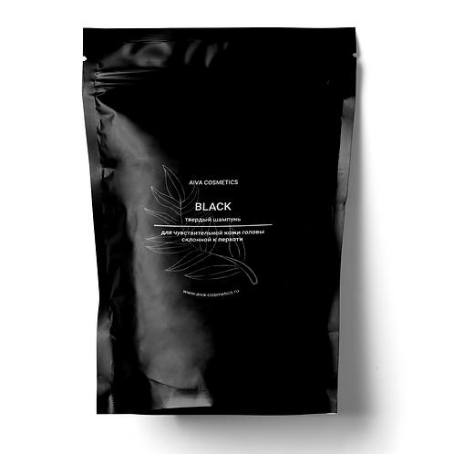 BLACK\ твердый шампунь\упаковка эконом