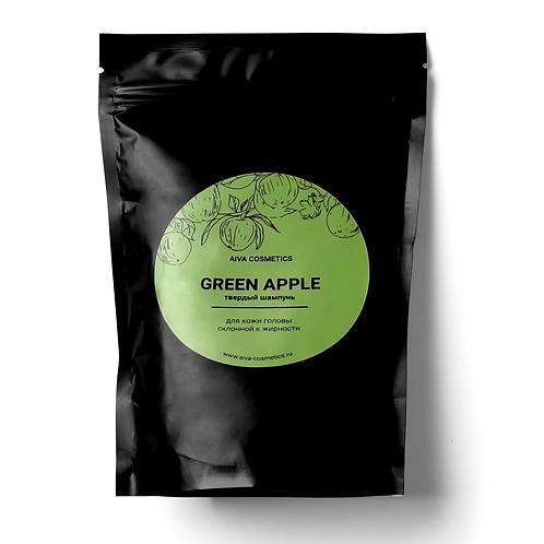 GREEN APPLE\твердый шампунь\упаковка эконом