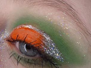Simple Step By Step Green And Orange Eye Shadow Look