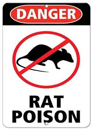 Panneau de danger raticide, biocide, poison