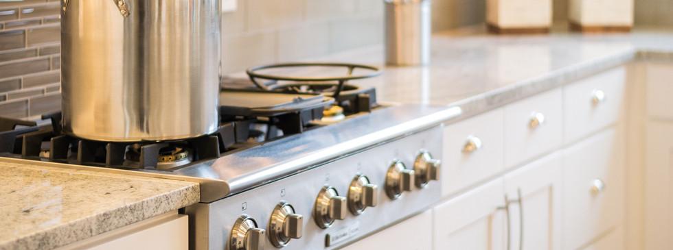 Bancada da cozinha em mármore
