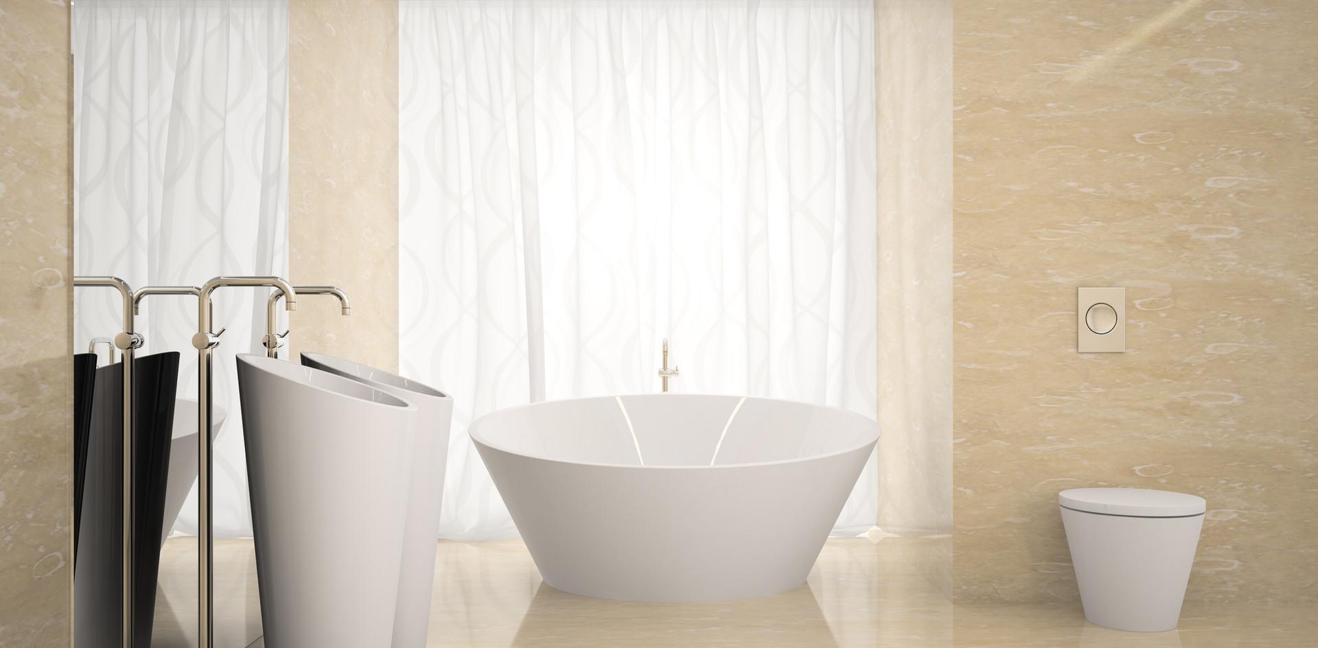 Banheiro com mármore