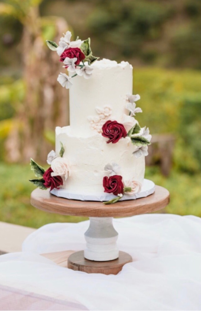 2 Tier Wedding Cake