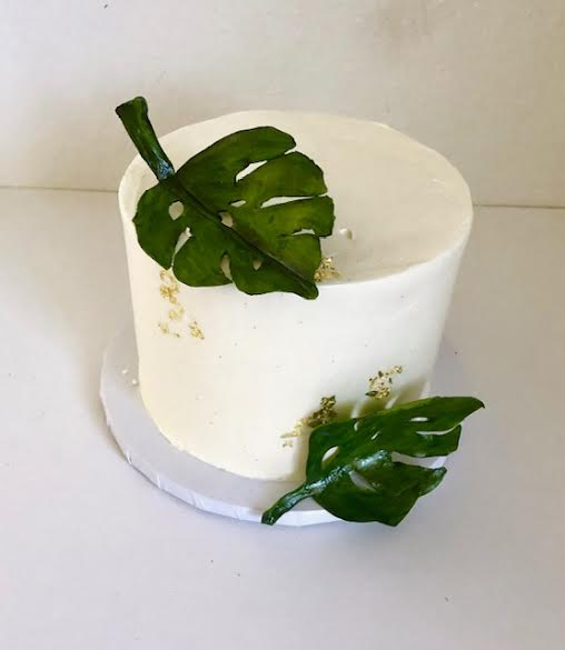 Monstera Baby Shower Cake
