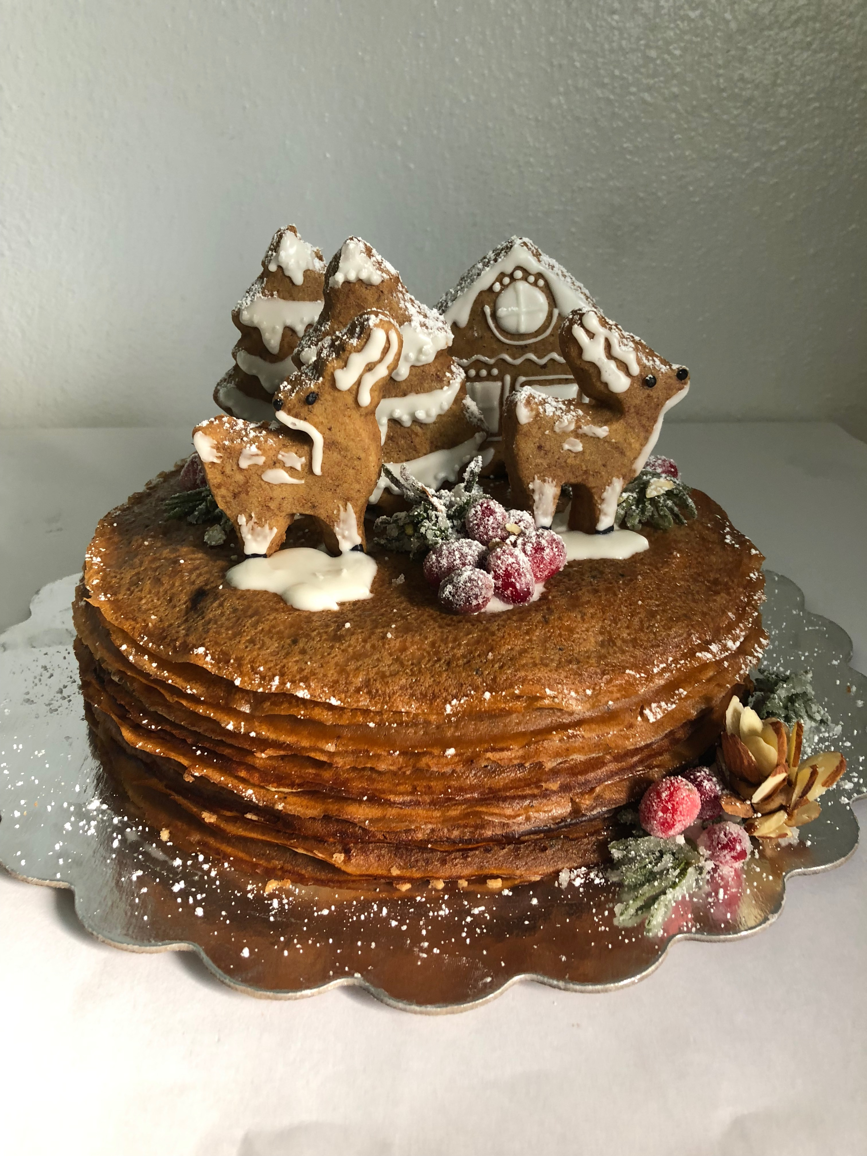 Gingerbread Crepe Cake