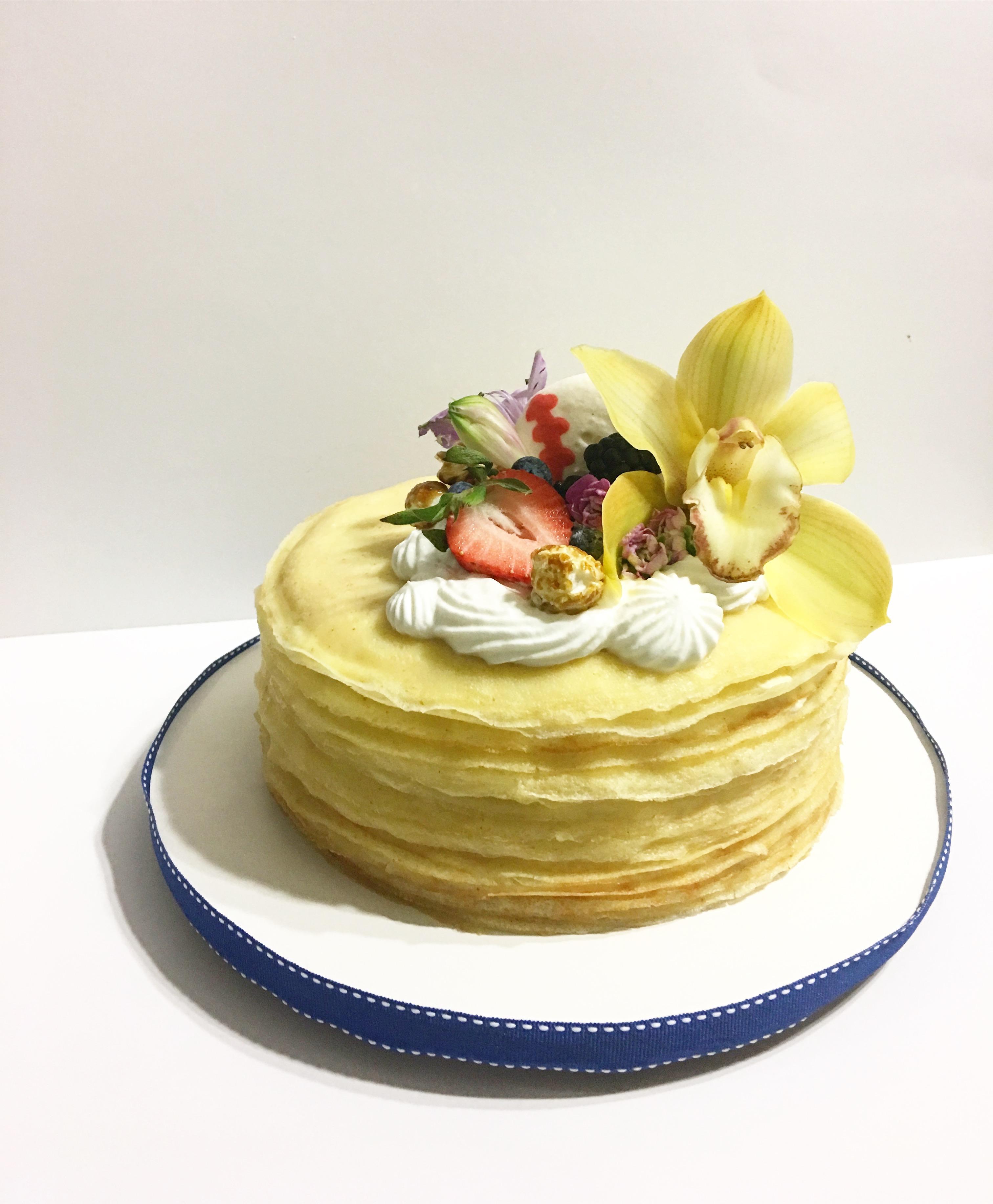 Lilikoi Crepe Cake