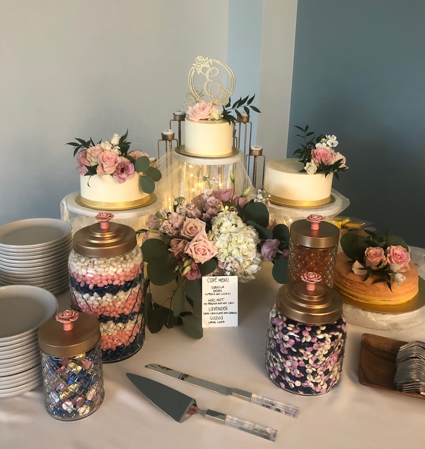 Wedding Cake Setup