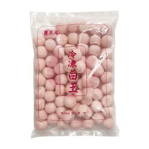 日本粉紅白玉丸子