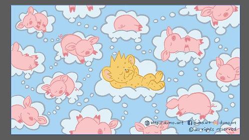 Dumo & 懶懶豬 大毛巾