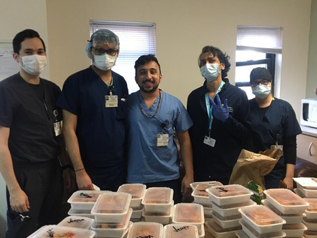KYRC fam donates & delivers food to The Brooklyn Hospital Center staff