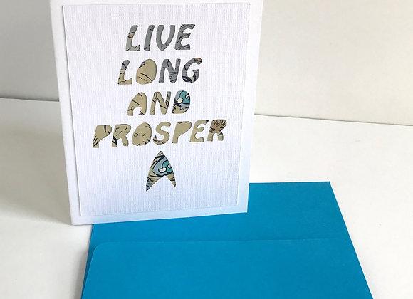 (6) Live Long and Prosper Card