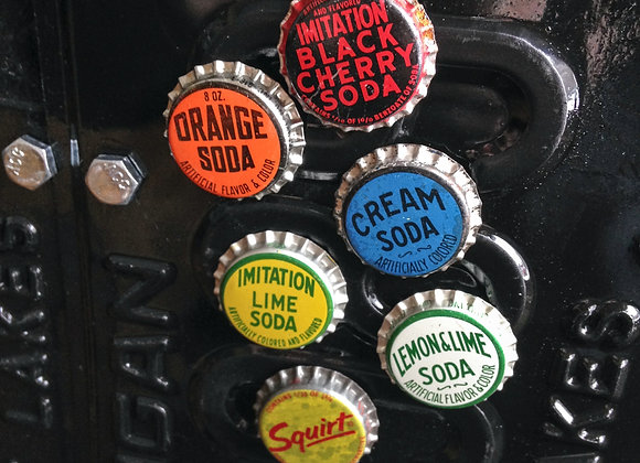 (6) 6-pack Soda Pop Magnets
