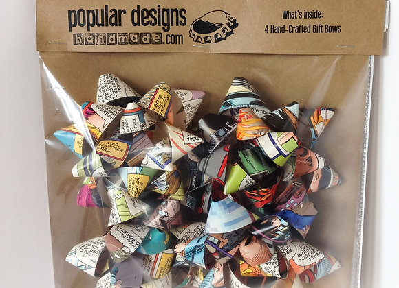 (5) 4-Pack Comic Book Gift Bows