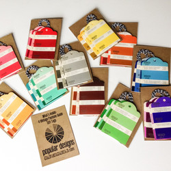 repurposed Pantone color gift tags
