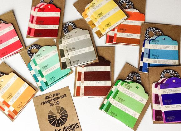 (6) pantone gift tags