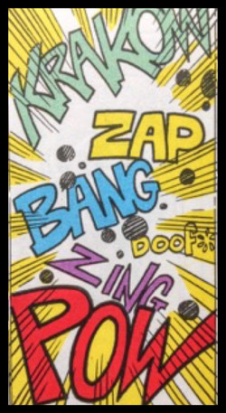 Comic book zap bang doof zing pow