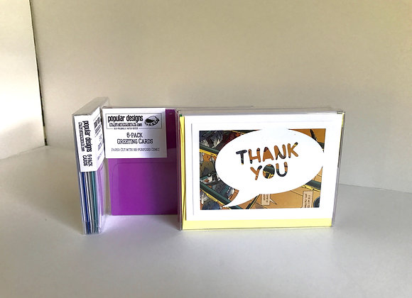 (2) 6-Pack Thank You Cards