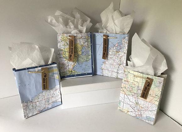 (10) Small Map Gift Bag
