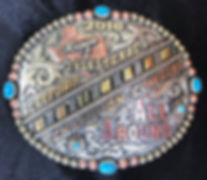 trophy buckle, buck stitched, quality rodeo awards, turquoise stones
