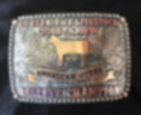 lifestock show trophy buckle