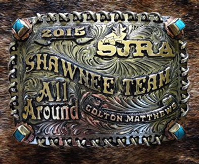 trophy buckles, laced edge, custom buckle design