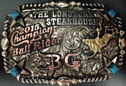 laced edge, trophy buckle, kelly slover, rodeo awards