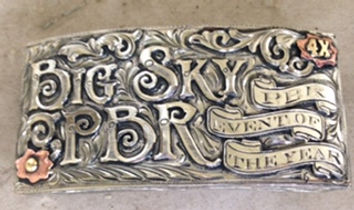 box buckle, trophy buckle, custom trophy silver, bull riding, rodeo awards