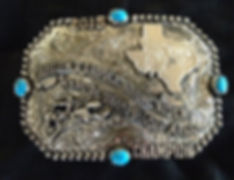 trophy buckle, laced edge, custom trophy buckle, rodeo awards