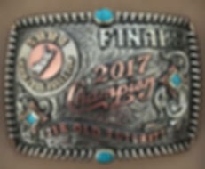 laced edge custom trophy buckle made for SBBA bulls