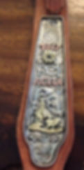 Headstall plate with beautiful scrolling for ACHA