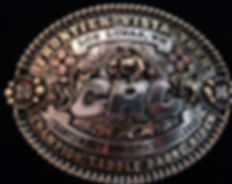 laced edge, trophy buckle, rodeo awards